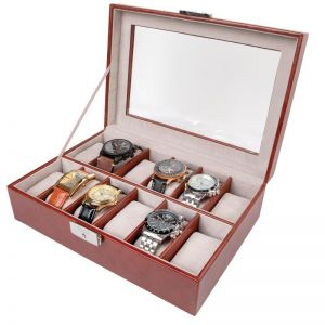12-Slot Stauer Watch Case