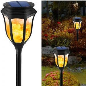 96 LED Solar Flicker Flame Torch Light