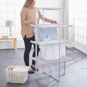 3-Tier Heater Tower Airer with Wheels